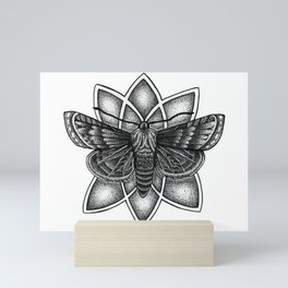 Moth Mandala Mini Art Print