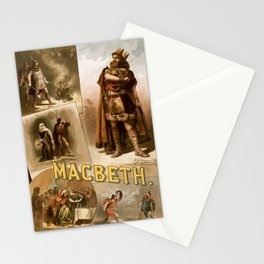 Vintage Macbeth Theatre Poster Stationery Cards