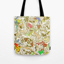 Kamasutra LOVE - Retro Yellow Tote Bag