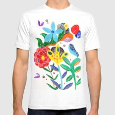 Dreaming in the garden White Mens Fitted Tee MEDIUM