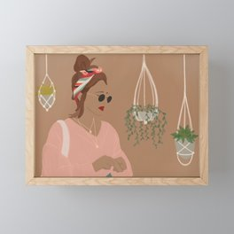 Plant Mama Framed Mini Art Print