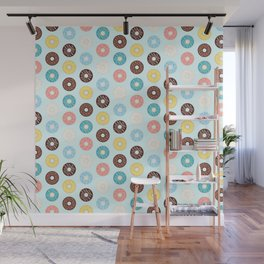 Donuts — Blue Background Wall Mural
