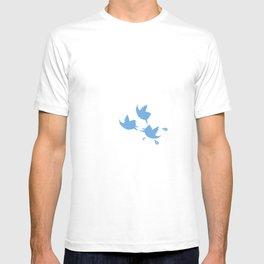angry social birds T-shirt