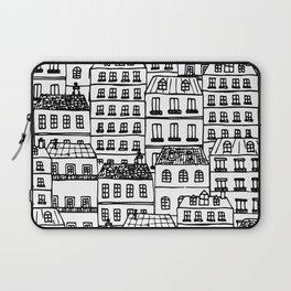 Paris Rooftops Sketch Laptop Sleeve