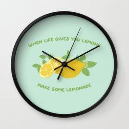 make some lemonade Wall Clock