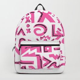 Pink charm Backpack