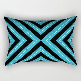 series 1 Blue Rectangular Pillow