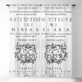 Institutiones Rei Herbariae 1700 Sheer Curtain