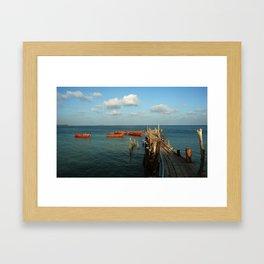 Koh Samet Jetty Framed Art Print