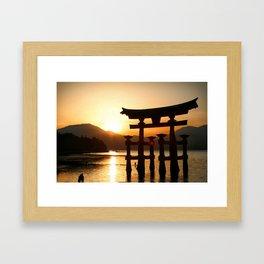 Itsukushima Shrine on Miyajima, Japan Framed Art Print