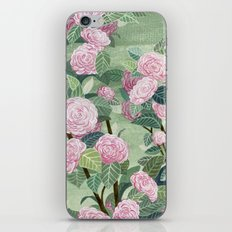Pink florals iPhone & iPod Skin