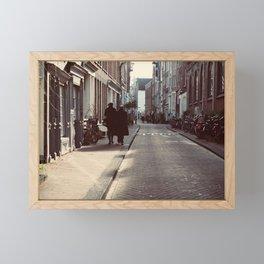 Walking Framed Mini Art Print