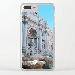 Trevi Fountain in Summer Clear iPhone Case