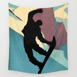 Snowboarding Dude Method Grab Wall Tapestry