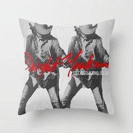 DWIGHT YOAKAM SECOND HAND HEART TOUR DATES 2020 ASAMJAWA Throw Pillow