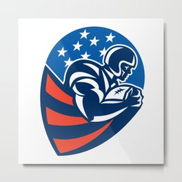 American Football Rushing Running Back  Metal Print