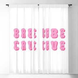 Babe cave groovy pinks Blackout Curtain