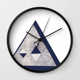 Rice paper Quadruple Pyramid Wall Clock