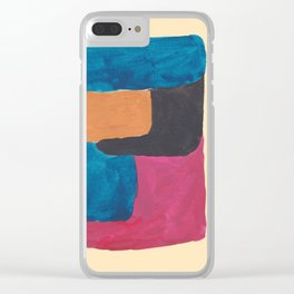 6   190330 Abstract Shapes Painting Clear iPhone Case
