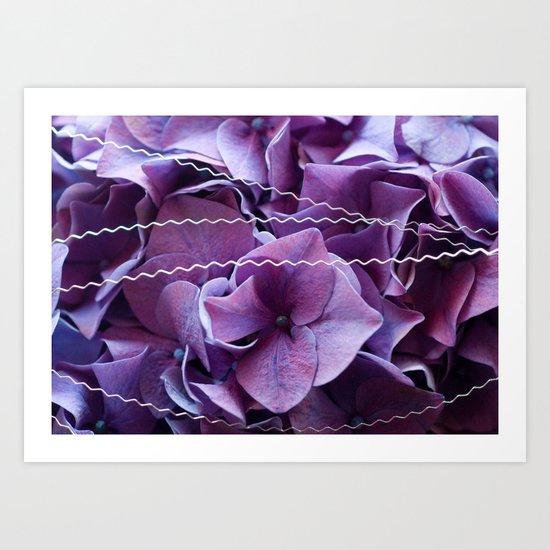 Hydrangeas #1 #Purple #art #society6 Art Print