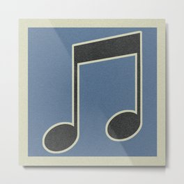 eighths note blue Metal Print