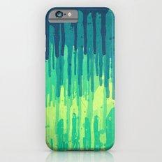 Green Grunge Color Splatter Graffiti Backstreet Wall Background iPhone 6s Slim Case