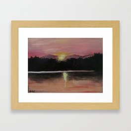 Grundy Lake Sunset Framed Art Print