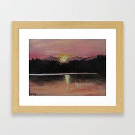 Grundy Lake Sunset Framed Art Print