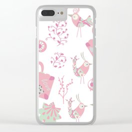 Travel pattern 2 Clear iPhone Case