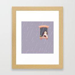 Purple Rainy day Framed Art Print