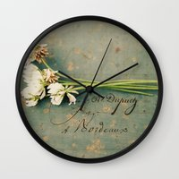 clover Wall Clocks featuring clover by Beverly LeFevre