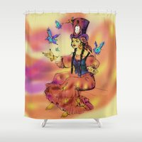 fairy Shower Curtains featuring fairy by Elena Trupak
