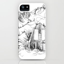 Wendy Thompson Hut - Single Line iPhone Case