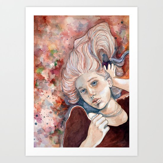 Listen with your eyes open - watercolor Art Print