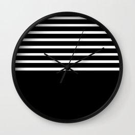 BLACK & WHITE AND BLACK AGAIN Wall Clock