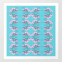 orchid Art Prints featuring Orchid by Nahal