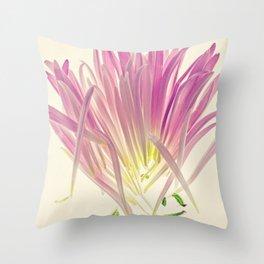 Love me, Dhalia - Botanical Print Throw Pillow