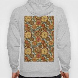 Groovy Marigold Floral Hoody