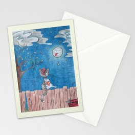 Sometimes even the moon is laughing Stationery Cards