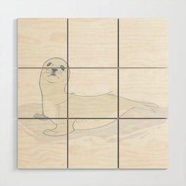 Seal Pup Wood Wall Art