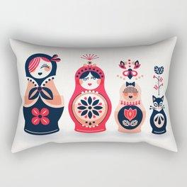 Russian Nesting Dolls – Hot Pink Rectangular Pillow
