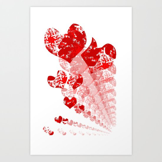 Heart - Red Art Print