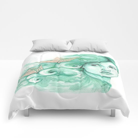 Paper ships Comforters