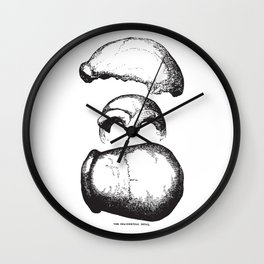 The Neanderthal Skull Wall Clock