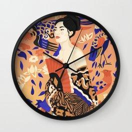 Lady with Fan Wall Clock