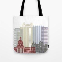 Edmonton skyline poster Tote Bag