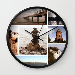 Collage of Rügen Wall Clock