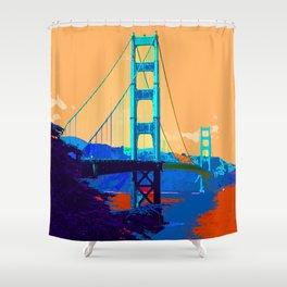Golden_Gate_Bridge_010 Shower Curtain