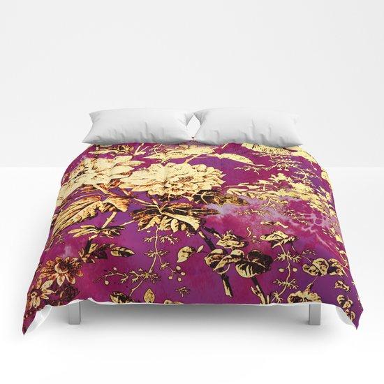 rich floral Comforters
