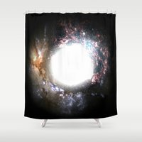 the shining Shower Curtains featuring Shining Light by Labartwurx